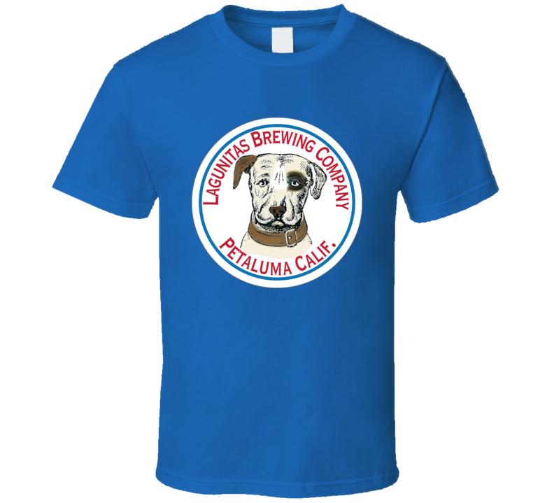 Lagunitas Brewing Company Petaluma California Cool Beer Alcohol Dog Logo T Shirt
