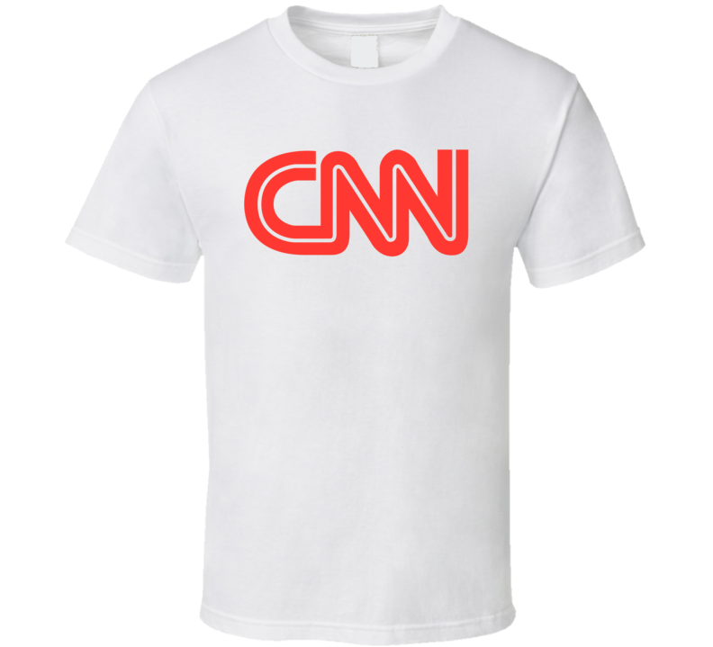 CNN TV Channel Cool Television Station Logo T Shirt
