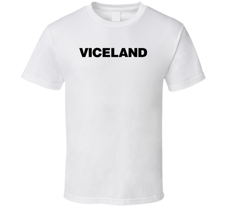 Viceland TV Channel Cool Television Station Logo T Shirt