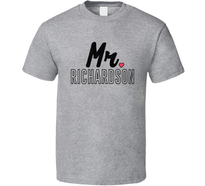 Mr Richardson Custom Personalized Last Name Newly Wed Couples Matching T Shirt