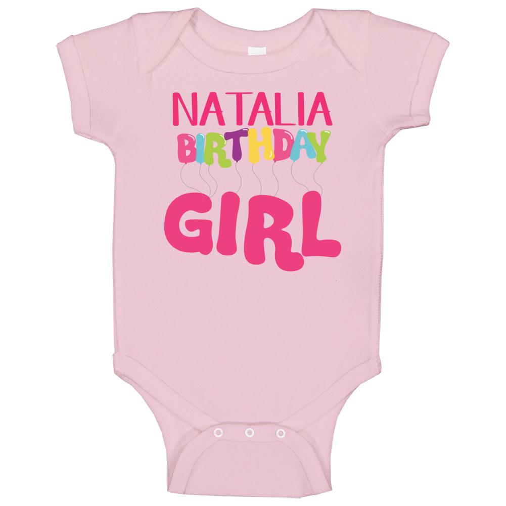 Natalia Birthday Girl Baby One Piece Personalized 1st 2nd Birthday Gift Baby Baby One Piece