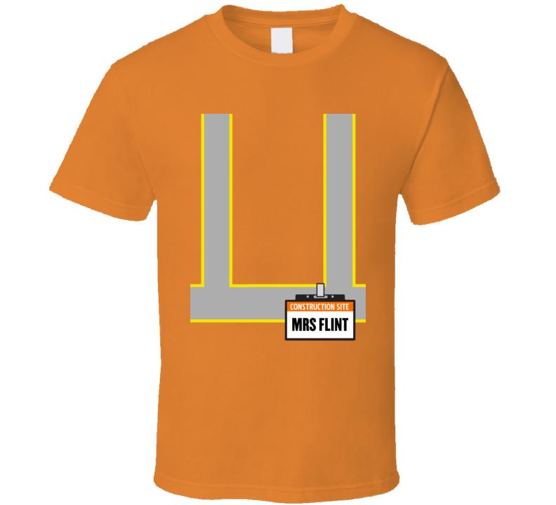 Mrs Flint Construction Worker Costume T Shirt