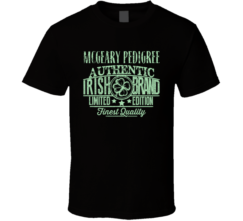 Mcgeary Pedigree Authentic Irish Brand T Shirt