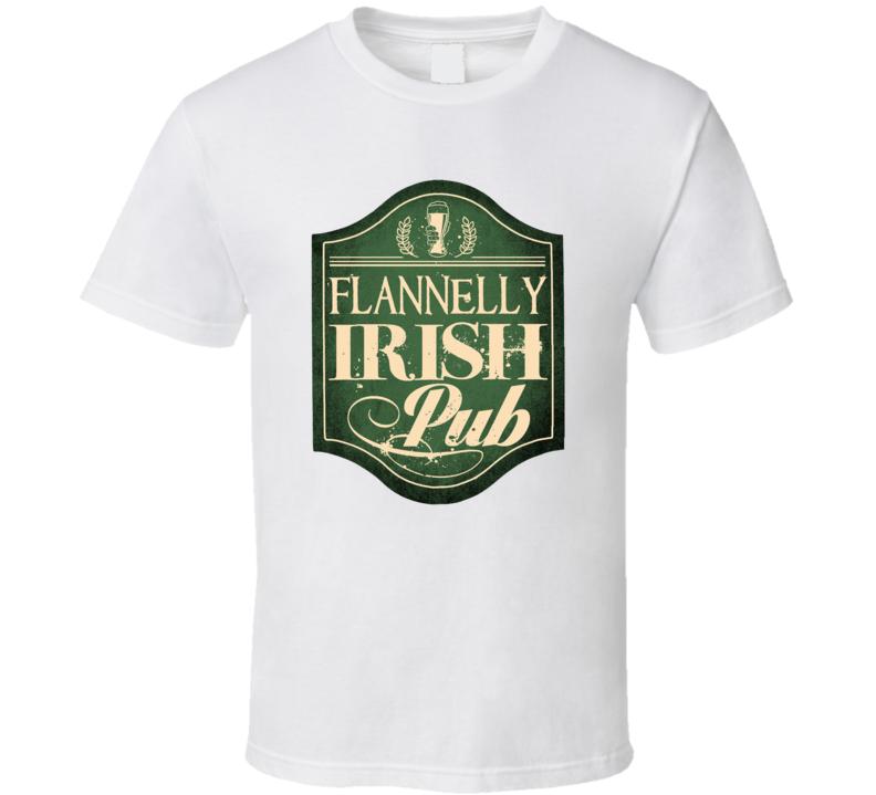 Flannelly Irish Pub T Shirt