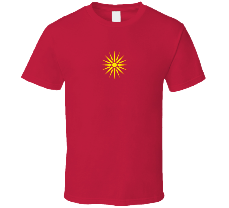 Macedonian Sun Burst Flag Macedonia T Shirt