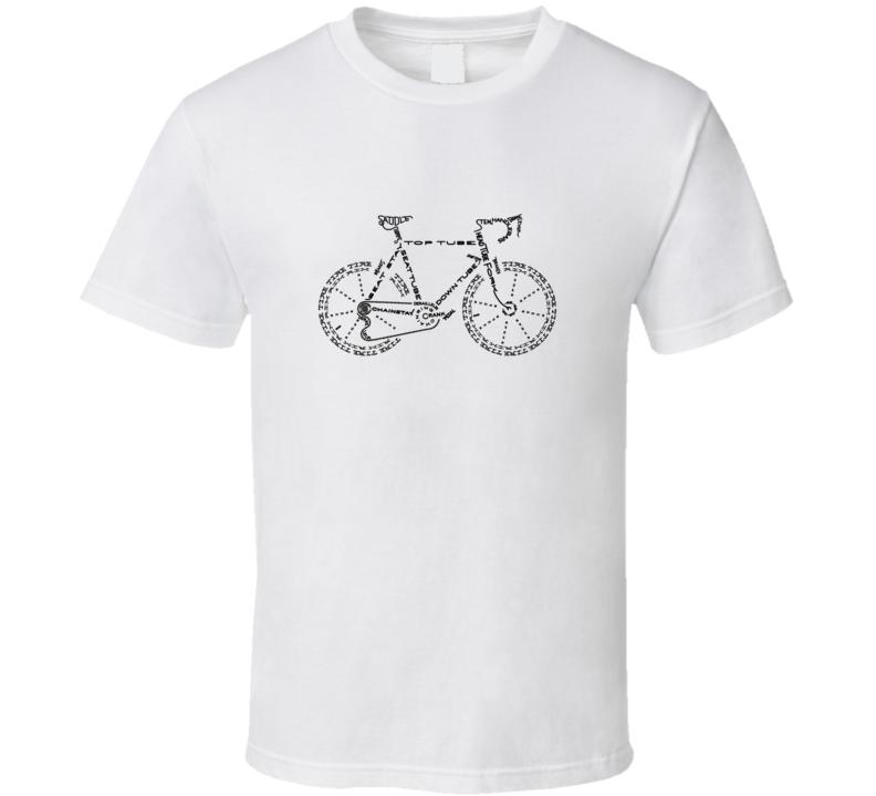 Bicycle Parts Named T Shirts T Shirt