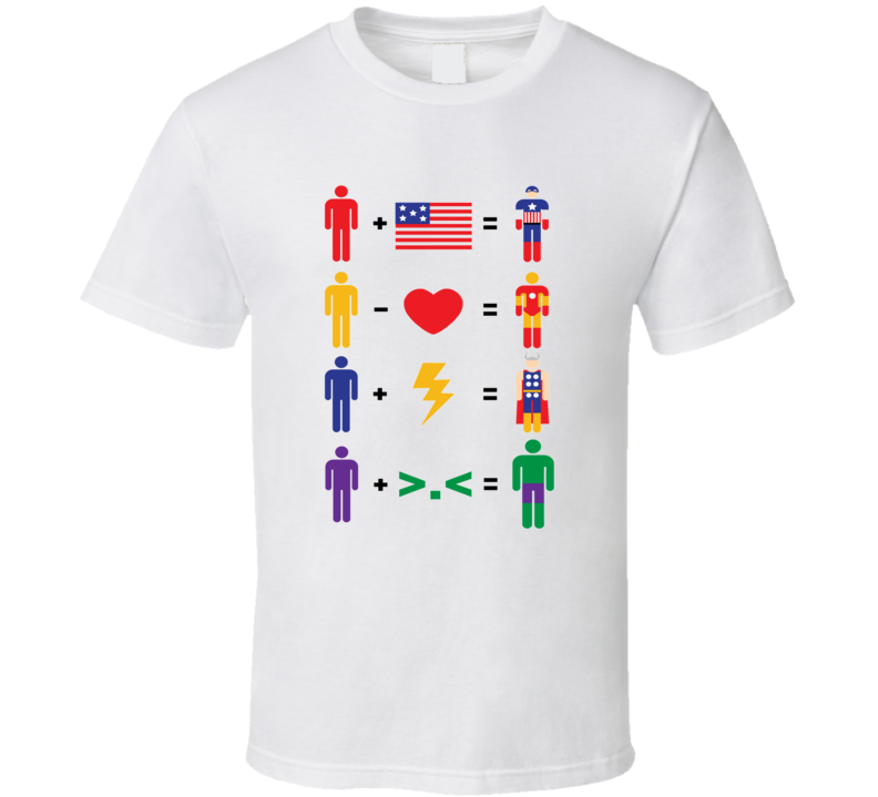Super Hero Math Equation Pop Culture T Shirt