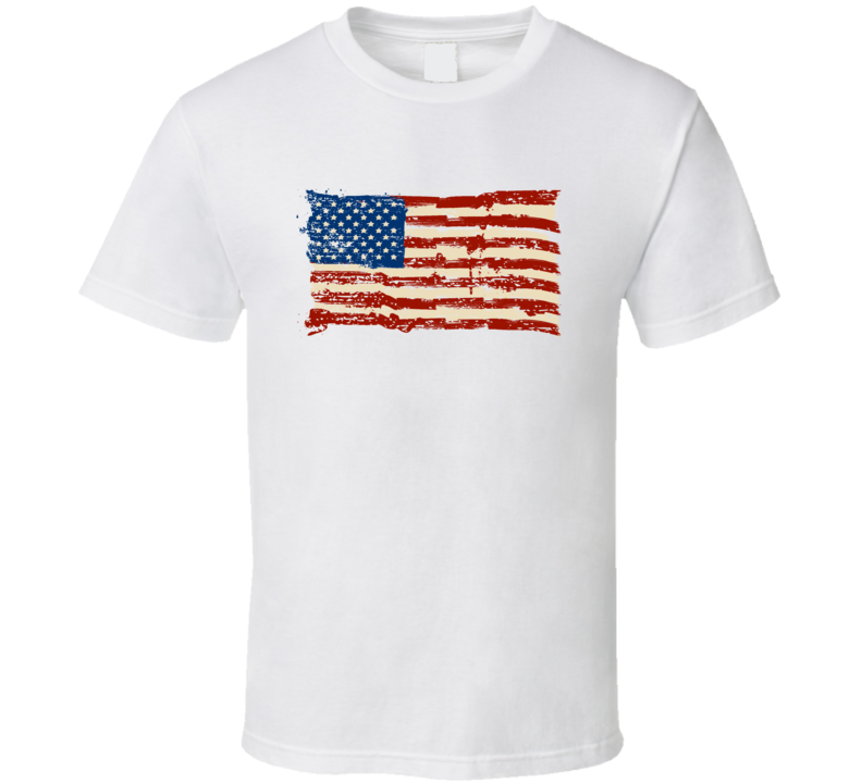 USA Flag Stars and Stripes T Shirt