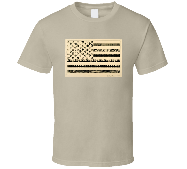 USA Flag Pop Culture T Shirt