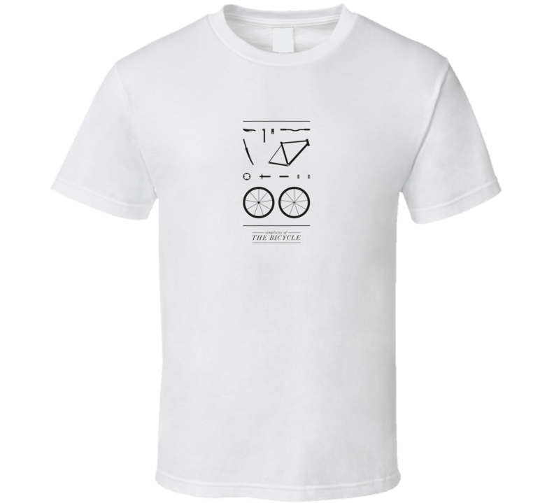 Simplicity of a Bicycle Bike Cycling T Shirt