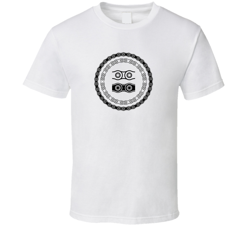 Bicycle Chain Circle Bike Cycling T shirt