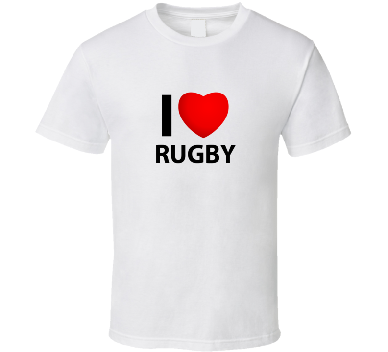 I love I Heart Rugby T Shirt