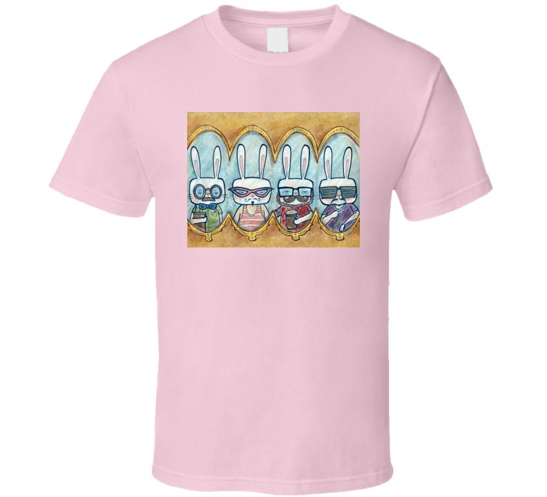 Hipster Bunny T Shirt