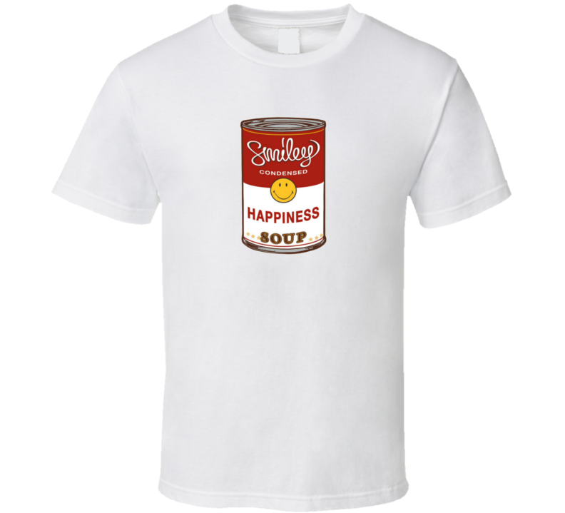 Smiley Happiness Soup Cambell's Parody T Shirt