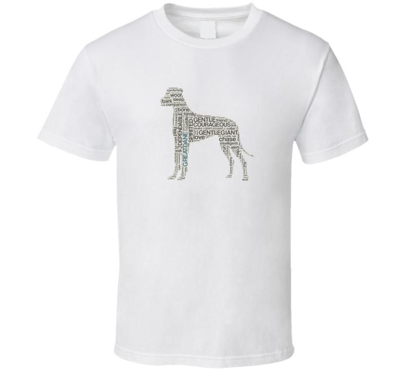 Great Dane Words T Shirt