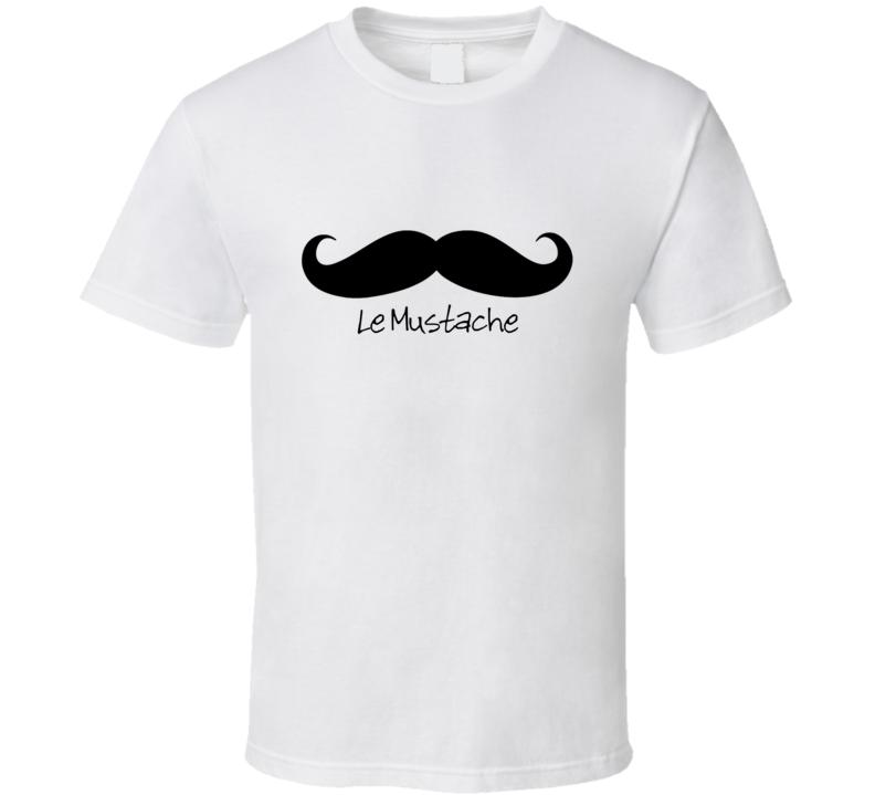 Le Mustache Movember T Shirt