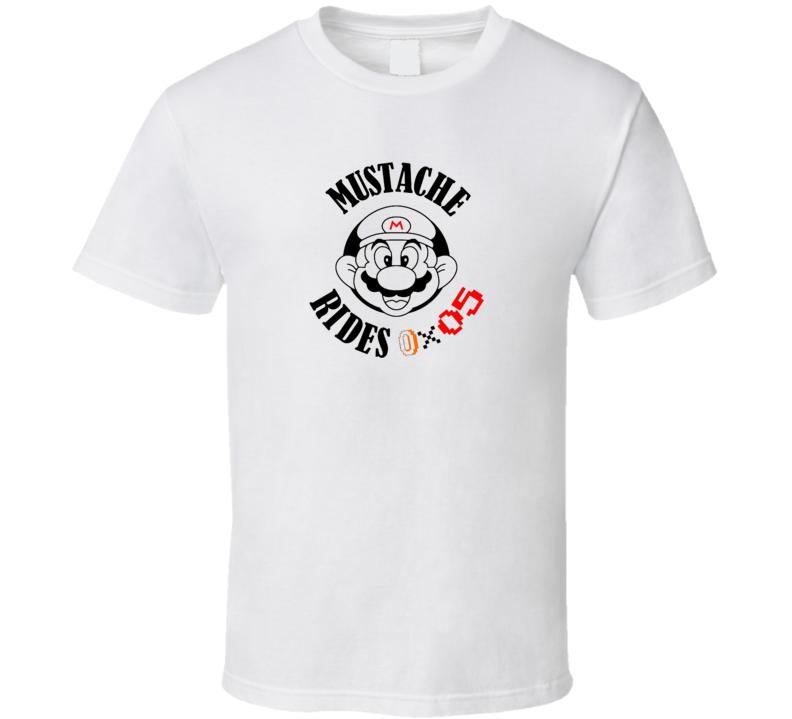 Mustache Rides Mario Parody Movember T Shirts T Shirt