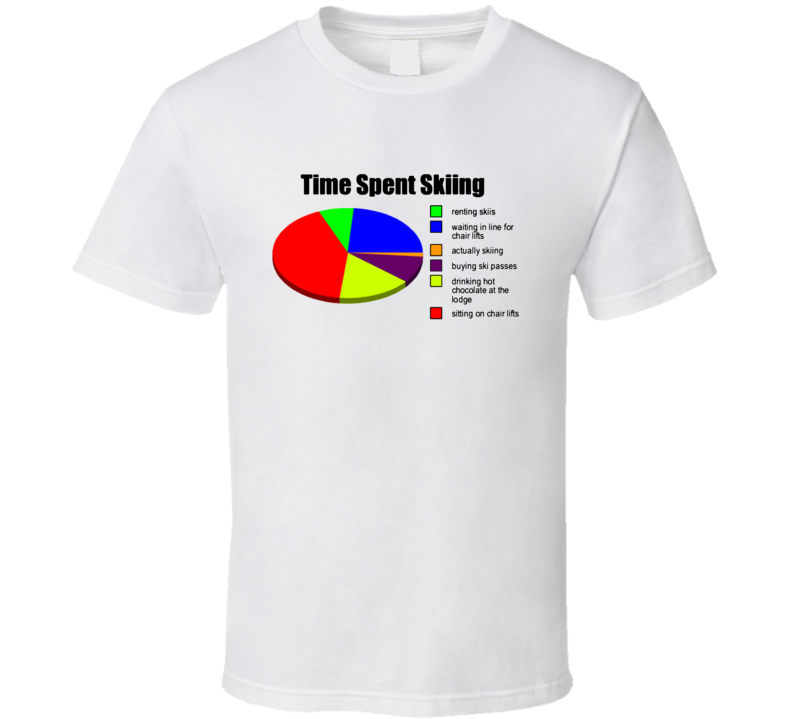 Time Spent Skiing T Shirt