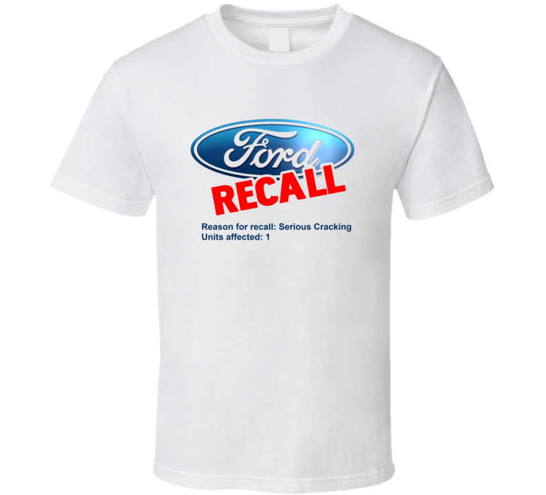 Ford Recall Parody Rob Ford Smoking Crack Toronto Mayor T Shirt