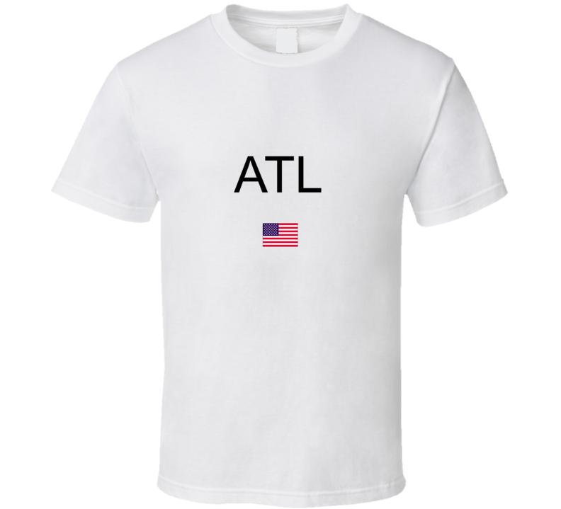 ATL Hartsfield Jackson Atlanta International Airport Code T Shirt