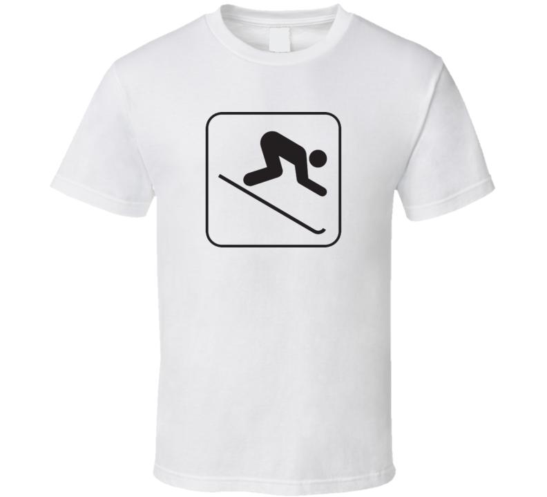 Skiing Downhill T Shirt