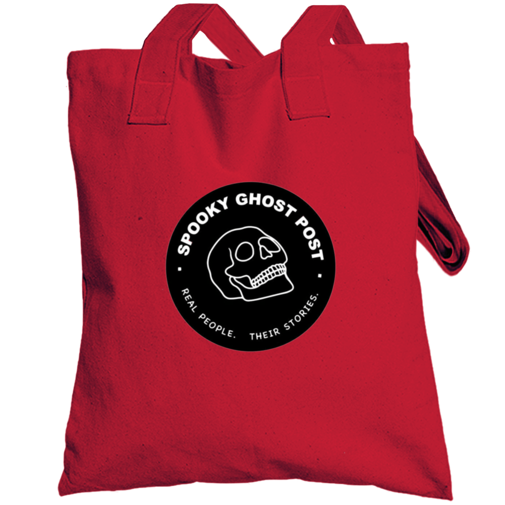 Spooky Ghost Post Title Totebag