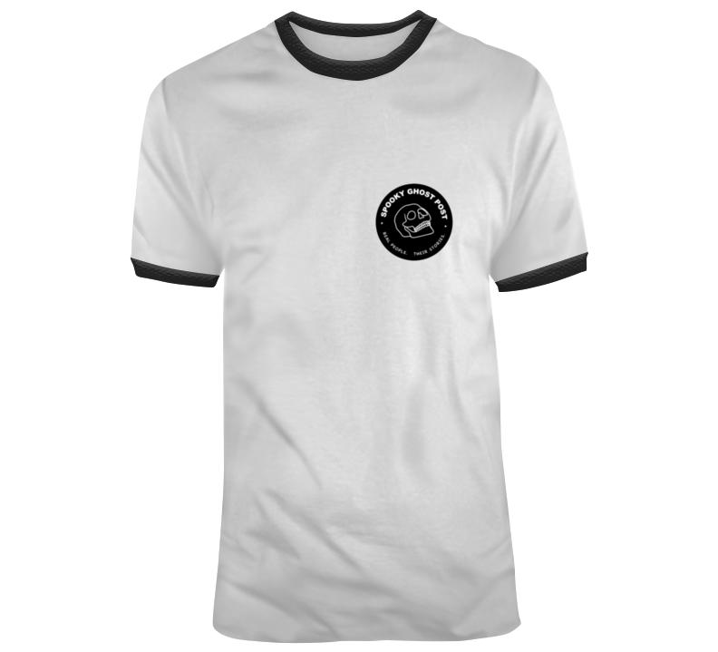 Spooky Ghost Post Logo T Shirt