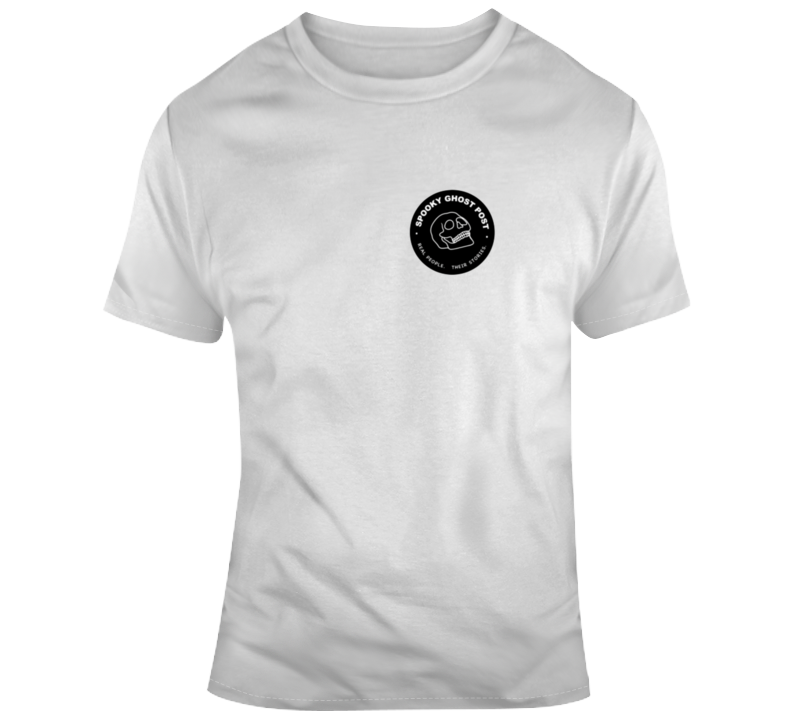 Spooky Ghost Post Logo T Shirt