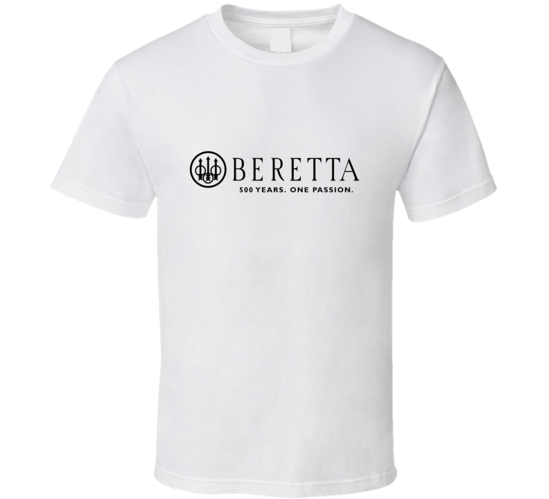 Beretta 500 Years Italian Shotgun Pistol Gun Fan T Shirt