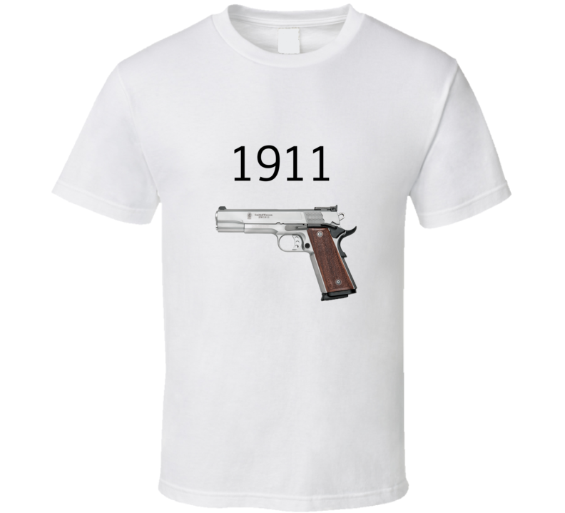 1911 Classic Gun Browning Supporter T Shirt