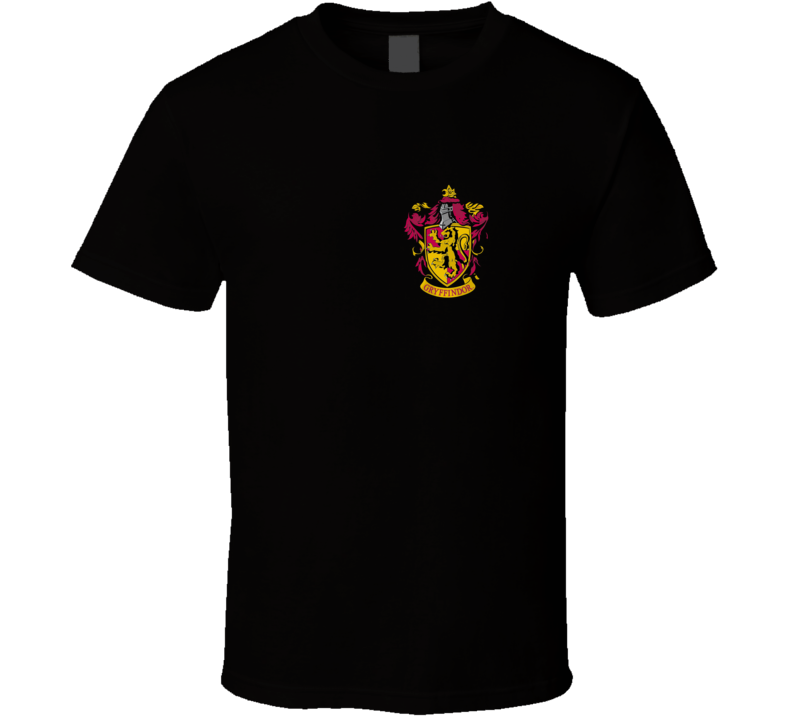 Harry Potter House Books And Movies Chest Gryffindor Fan T Shirt