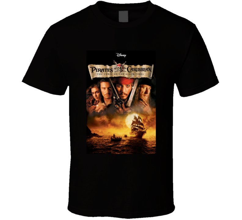 Pirates Of The Caribbean The Curse Of The Black Pearl Disney Fan T Shirt