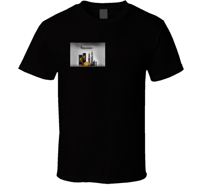 Browning Ammunition Hunting Shooting Fan T Shirt