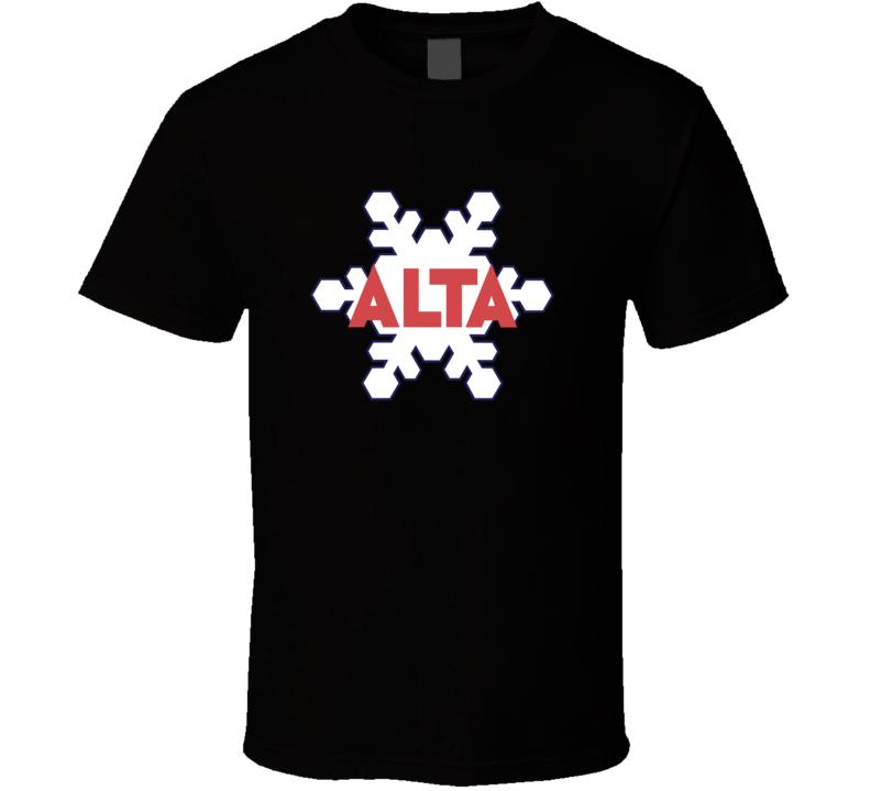 Alta Utah Ski Resort Fan T Shirt