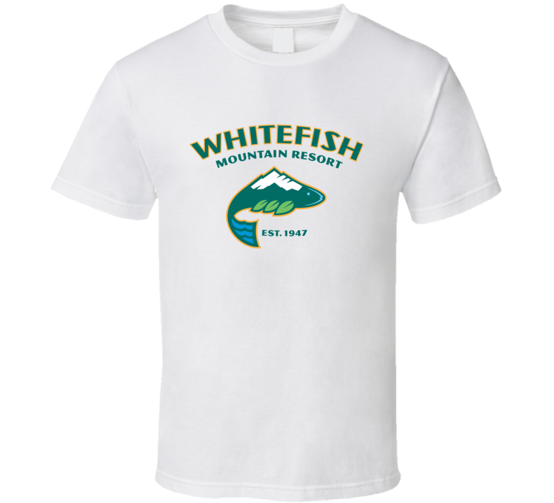 Whitefish Mountain Resort Montana Fan T Shirt