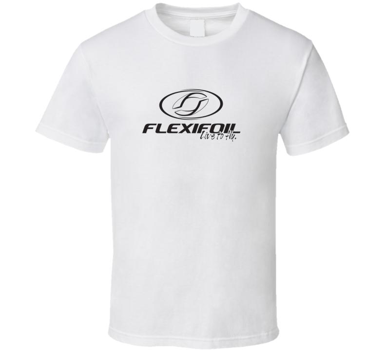Flexifoil Live To Fly Kiteboarding Fan T Shirt