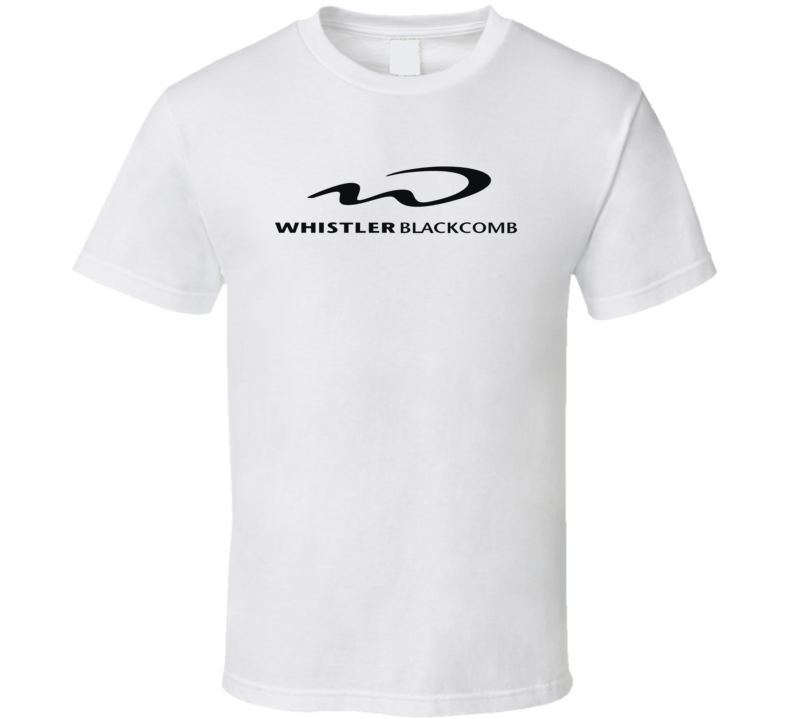 Whistler Blackcomb BC Ski Mountain Logo Fan T Shirt