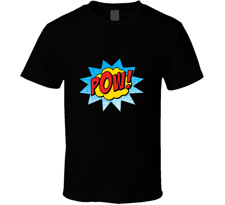 Pow Comic Superhero T Shirt