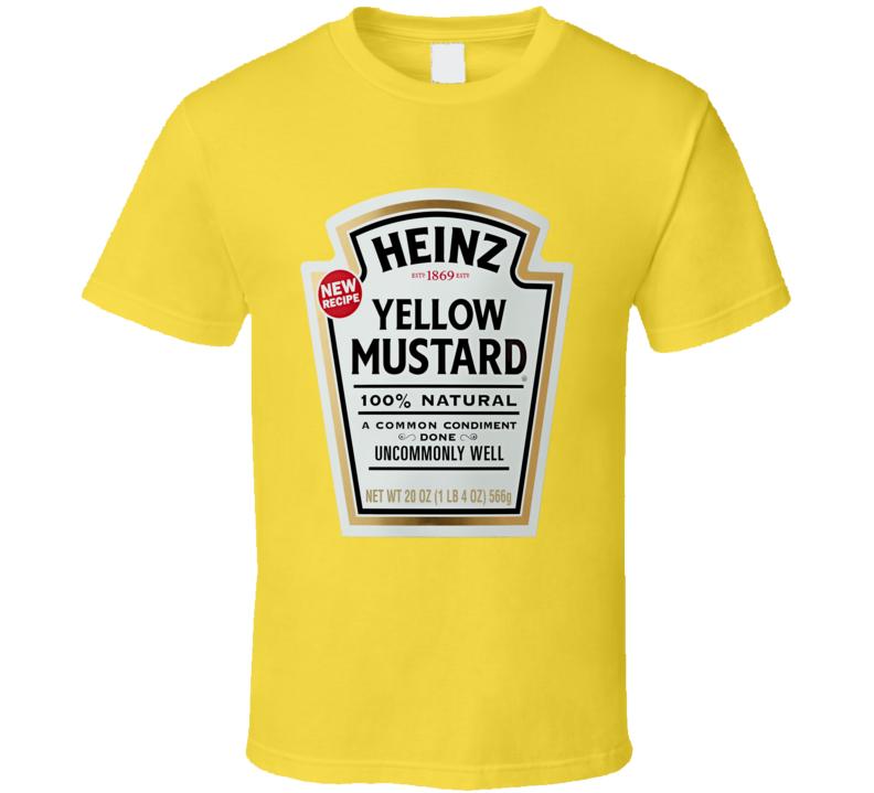 Heinz Yellow Mustard Food Costume T Shirt