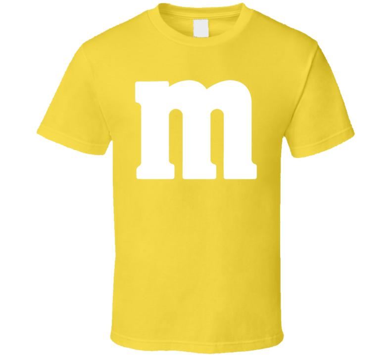 M Yellow Chocolate Candy Costume Shirt
