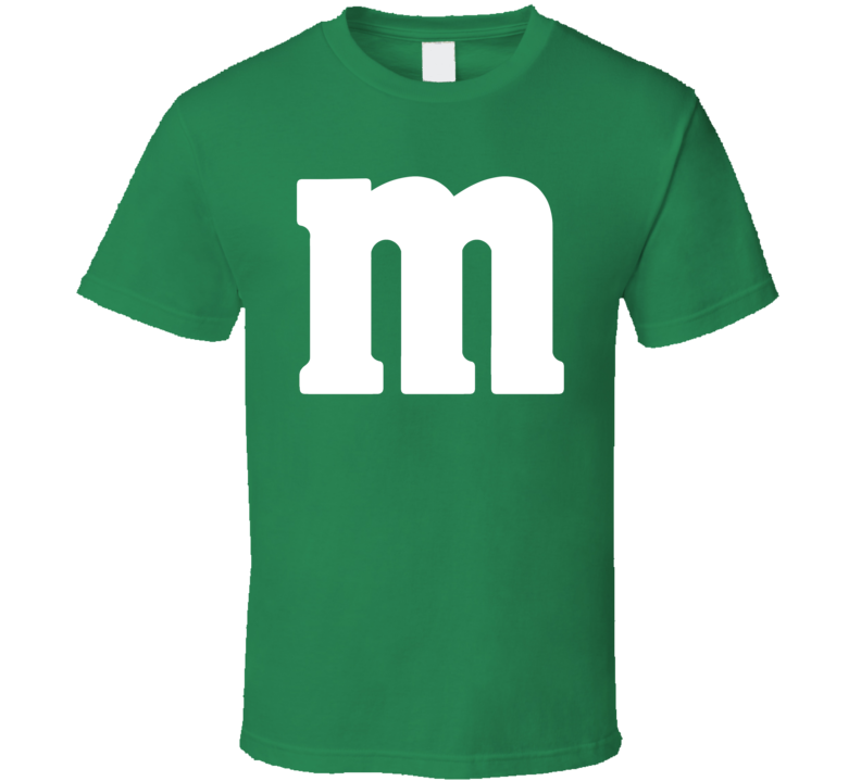 M&m's Green Chocolate Candy Costume Shirt