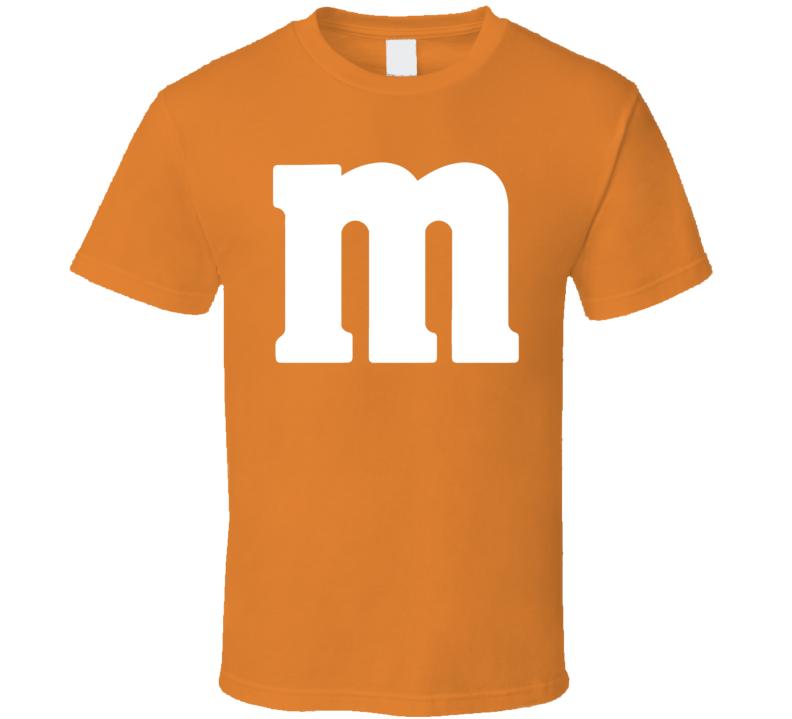 M&m's Orange Chocolate Candy Costume Shirt