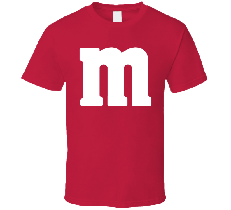 M&m's Red Chocolate Candy Costume Shirt