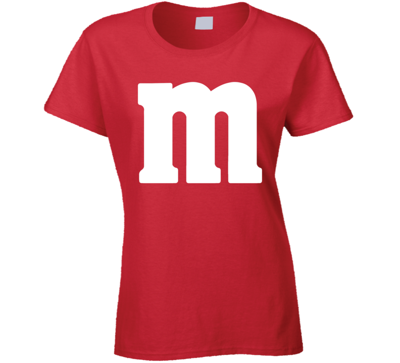 M&m's Red Chocolate Candy Costume Ladies Shirt
