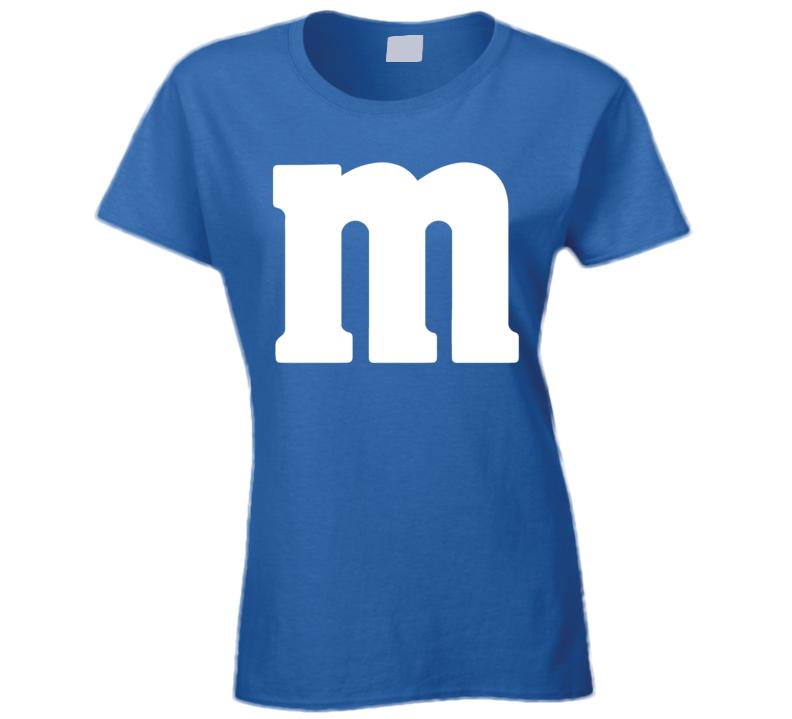 M&m's Blue Chocolate Candy Costume Ladies Shirt