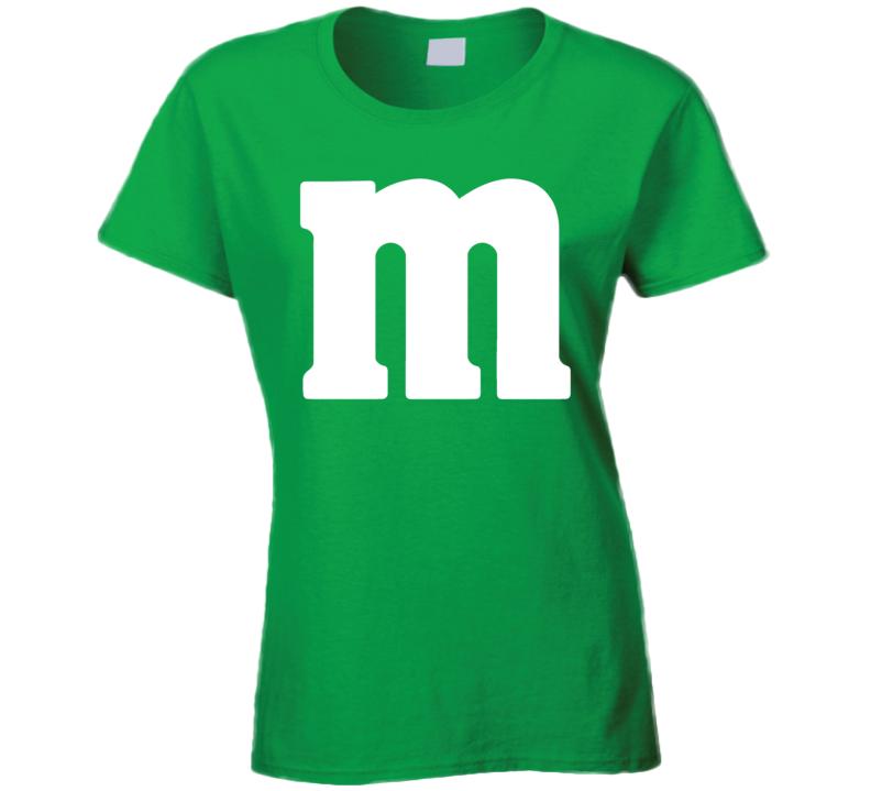M&m's Green Chocolate Candy Costume Ladies Shirt