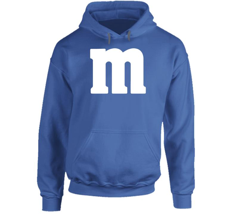 M&m's Blue Chocolate Candy Costume Hoodie Hooded Sweatshirt