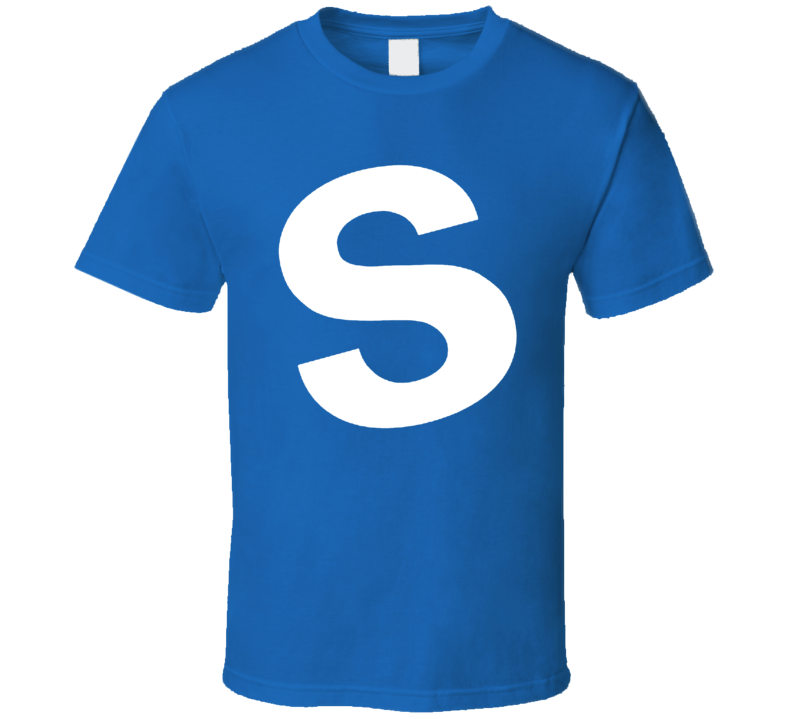 Skittles Candy Blue Halloween Costume Shirt