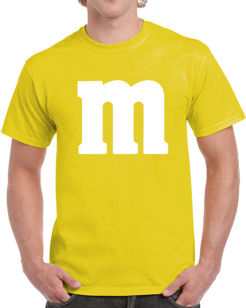 M&m's Yellow Chocolate Candy Costume Shirt
