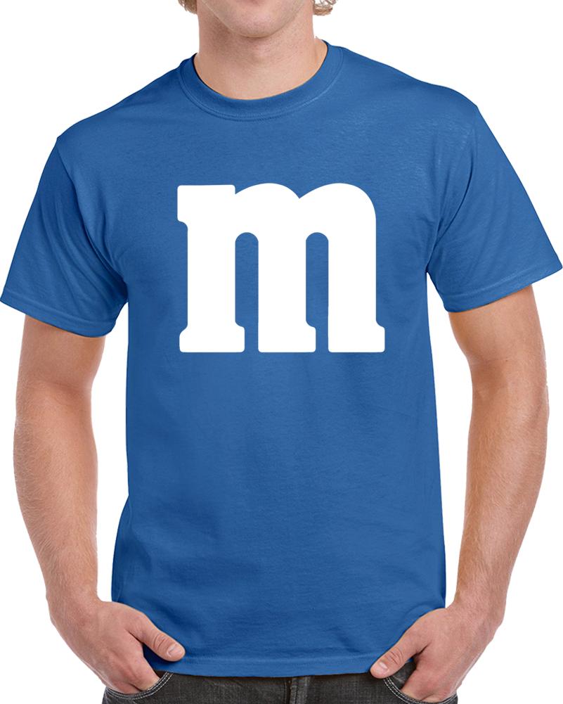 M&m's Blue Chocolate Candy Costume Shirt